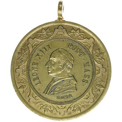 VATIKAN Papst Leo XIII. Messingmedaille 23,77 g A11834