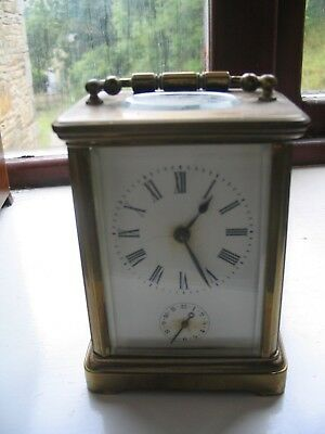Antique carriage clock with alarm,all working,presumably original.