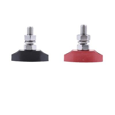 Red & Black Junction Block Power Post Insulated Terminal Single Stud 6mm