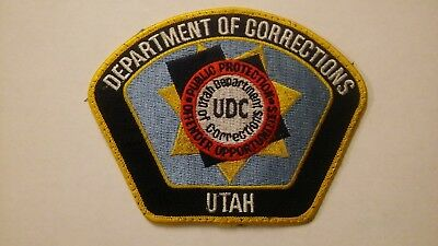 Utah Department of Corrections Officer shoulder patch - Red circle - rare.