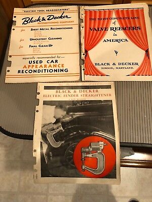 1930s BLACK & DECKER Lot of Vintage Tool Catalogs Towson MD