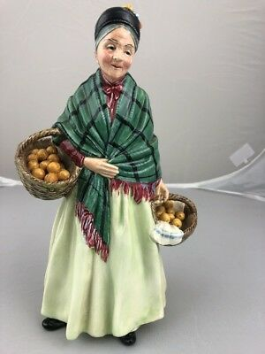 Early Royal Doulton The Orange Lady Figurine HN1753 Green Dress Limited Edition