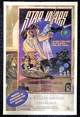 STAR WARS *Original* 1978 one sheet SOUNDTRACK PROMOTIONAL POSTER *Style D* RARE