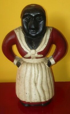 Antique/Vintage Black American Aunt Jemima Cast Iron Money Box..4.25kg