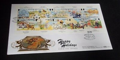 1994 Happy Holiday Sheet Isle Of Man Fdc - First Day Of Issue Douglas,