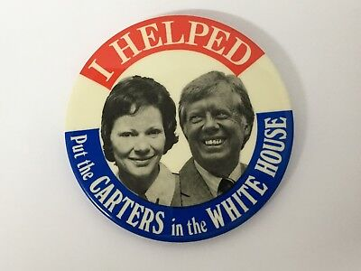 I Helped Put The Carters In The White House Pin Button Jimmy Carter