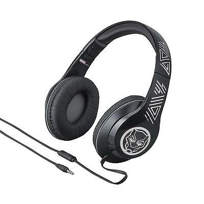 Black Panther Over the Ear Headphones with Built in Microphone Quality Sound