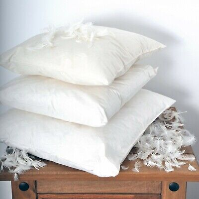 Anti Allergy Luxury Duck Feather Cushion Pads Fillers Inserts Inners Scatters