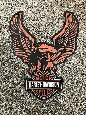 "Harley Davidson Motorcycles Eagle Tin Sign 10 1/2"" x 14"""