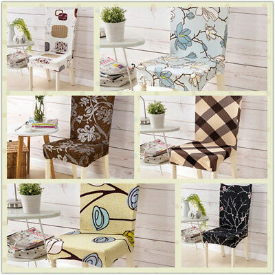 Removable Chair Covers Stretch Slipcovers Short Dining Room Stool Seat Case NEW