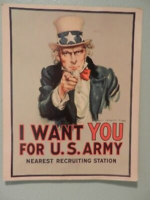 U S Government Printing Office Uncle Sam US Poster 1975Army