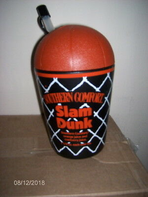 Vintage Southern Comfort Whiskey Slam Dunk Plastic Travel Cup w/ Lid & Straw