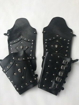 LEATHER  ARM AND LEG GUARD Black XL