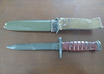Italian M-4  Bayonet, for  M 1 Carbine with B&M. Co. M-8A1 Scabbard