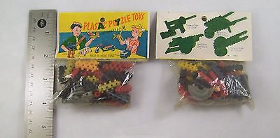 Dime Store Plastic Puzzle Toys Vintage 1960s Made in Hong Kong  Unopened NOS