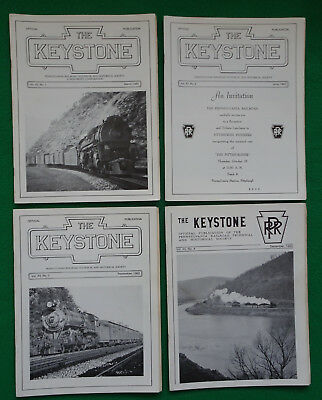 PRRT&HS The Keystone Magazine 1982 All 4 Issues Complete Year