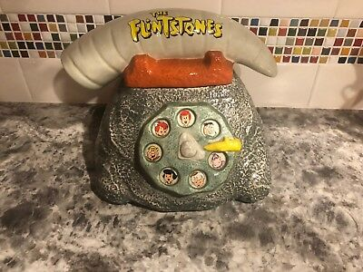 Rare Collectible Flintstone's telephone cookie jar