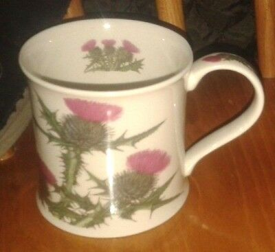 Dunoon Thistle Fine Stoneware Shaped Mug by Kathy Pickles - VGC