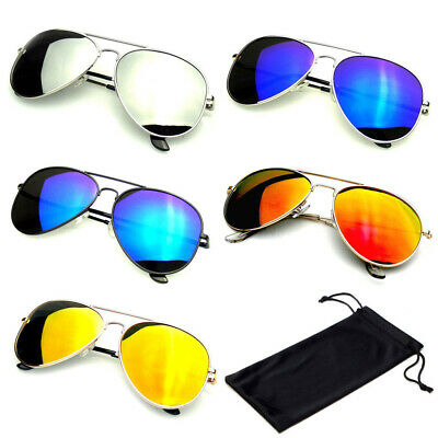 Reflective Classic Premium Reflective Flash Full Mirrored Mens Womens Sunglasses