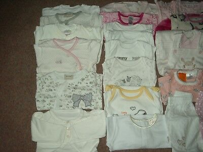 Baby Girl 0/3 Months Lovely Large Mixed Clothes Bundle Inc Coat. 30 + Items