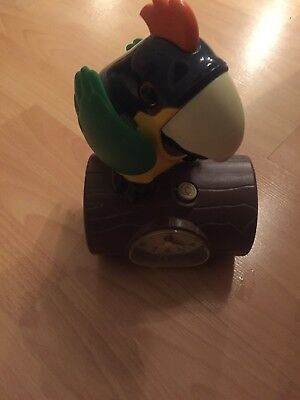 Vintage Parrot /,Toucan Alarm Clock , Moving Parts / Morning Calls , Qwerky Fun