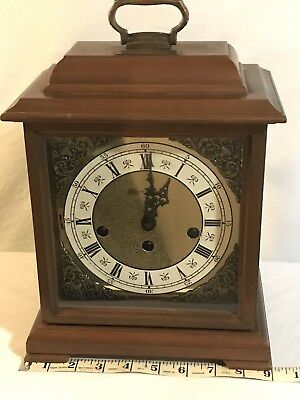 Antique Hamilton Table Clock 340-020 Made in West Germany - with no key
