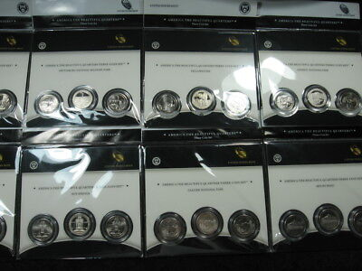 30 old coin lot ATB America The Beautiful 3 coin quarter sets 2010 2011 P D S