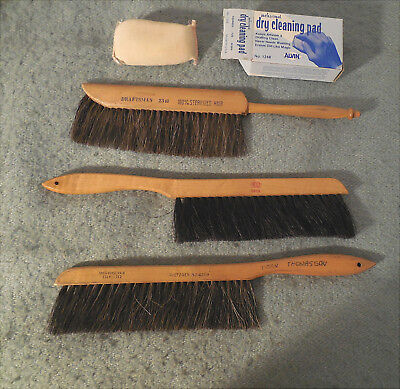 3 Artist Draftsman Architect Surface Cleaning Brushes + Cleaning Pad Dietzgen