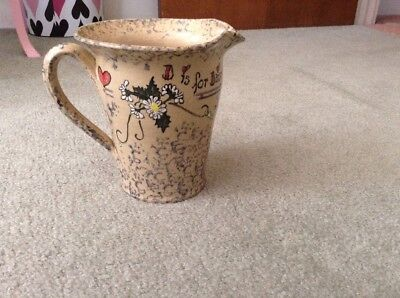 Party House Pottery Pitcher D Is For Daisy 1996 Carrollton Illinois