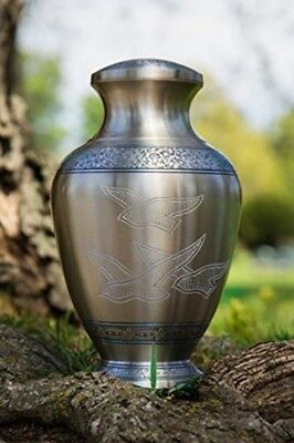 Brass Cremation Urn for Human Ashes Funeral Ashes Urn Beautiful Handcrafted URN