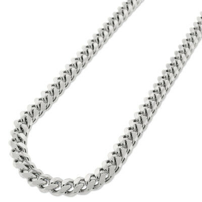 Sterling Silver 7mm Miami Cuban Curb Link Solid 925 Rhodium Chain Necklace