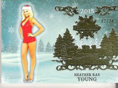 2015 Benchwarmer Trading Card Heather Rae Young 02/24 Holiday Past & Presents 43