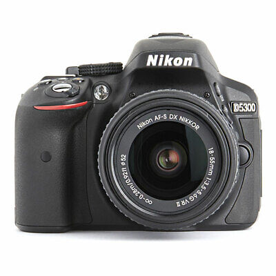 Nikon D5300 24.2 MP DSLR Camera Black With 18-55mm f/3.5-5.6G AF-S DX VRII Lens
