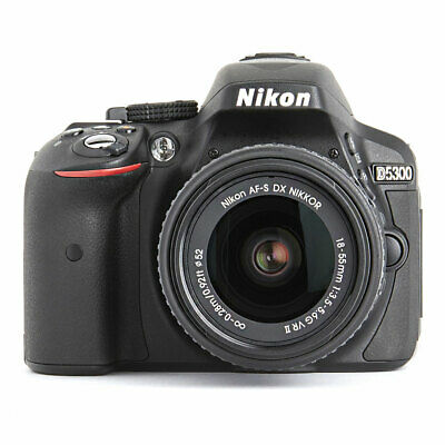 Nikon D5300 24.2 MP Digital SLR Camera w/ 18-55mm f/3.5-5.6G AF-S DX VR II Lens