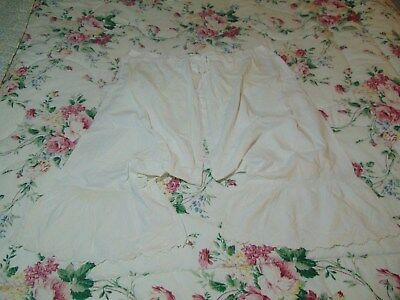 ANTIQUE Victorian Edwardian BLOOMERS PANTALOON spit DRAWER Hand Embroidery Fine