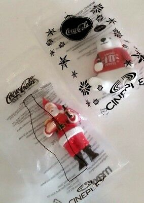 Coca Cola Santa Polar bear Christmas ornaments Cineplex theatre limited edition