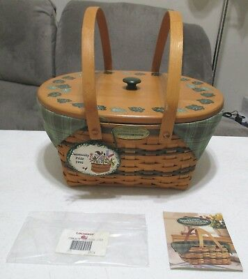 Longaberger 1996 Traditions Collection Community Basket Combo ~ Hand Painted Lid