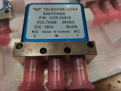 Teledyne relay coaxial CCR-33S10 28vDC, SPDT failsafe SMA 18Ghz .NEW