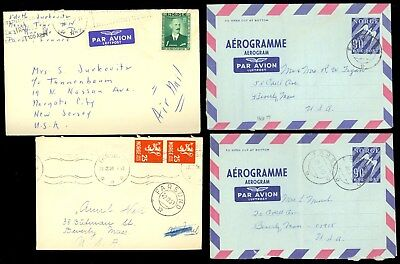 4 Norway Postal Cover Airmail Air Letter Aerogram Aerogramme Farsund Old Lot R72