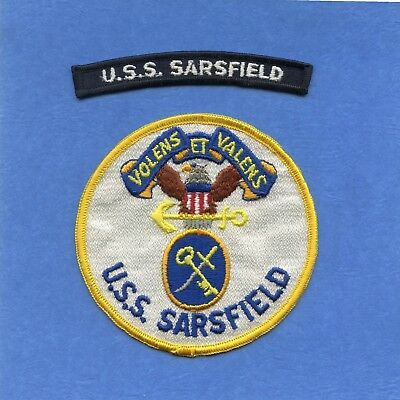 USS Sarsfield DD 837 Navy Jacket Patch with Shoulder Tab
