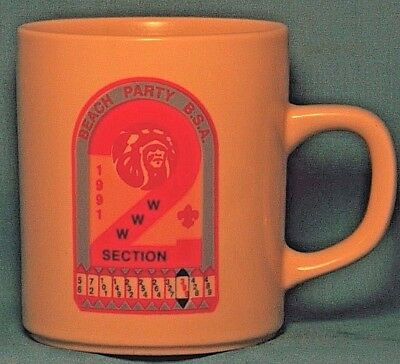 BOY SCOUTS Beach Party B.S.A. WWW Section 2 1991 COFFEE CUP / MUG