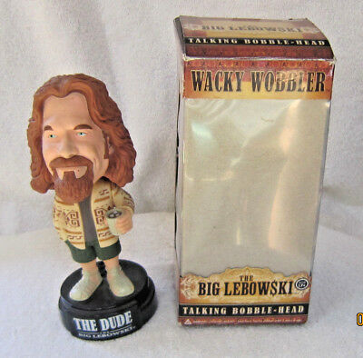 Big Lewboski. The Dude Talking Bobble Head. In Original Box. Very Good Condition