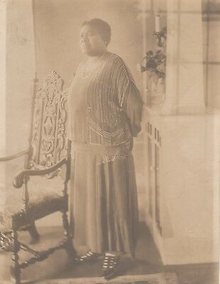"VINTAGE PHOTO ""African American woman at home and in fancy dress"" 9"" x 7"""