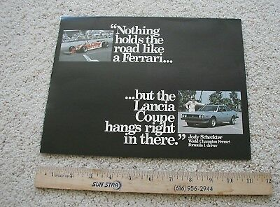 1981 Lancia Coupe New Car Dealer Brochure. Opens to Poster . Beta