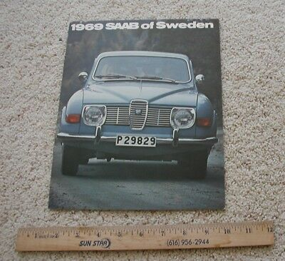 1969 Saab New Car Dealer Brochure 96 Sedan 95 Station Wagon