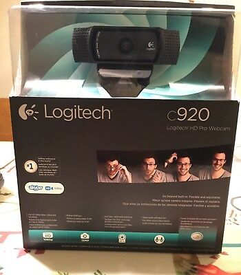"Logitech c920 HD Pro Webcam - Full HD 1080p ""NEW"", ""Works Great With Skype"""