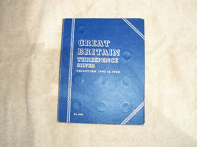 Whitman Folder for Great Britain 1902-1945 Silver 3P with 32 Silver Coins