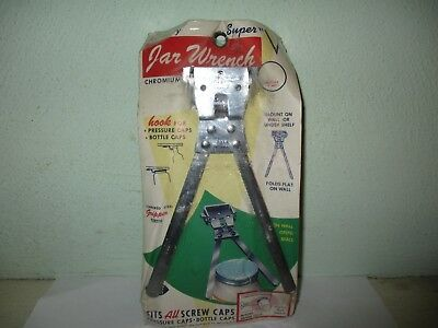 Vintage jar wrench (1965) Kenberry gadget - mount to wall or under shelf