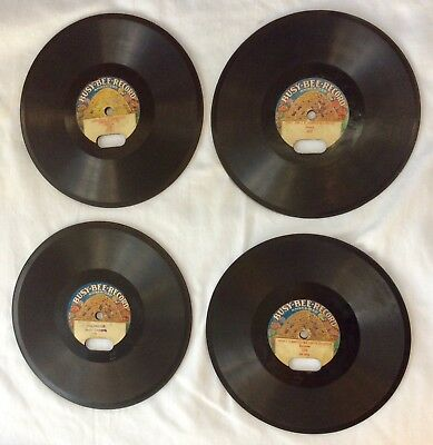 """4: BUSY-BEE old TALKING MACHINE antique phonograph •7"""" RECORDS: #48/109/208/302•"""