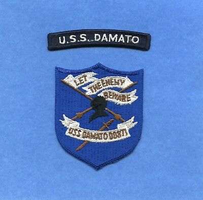 USS Damato DD 871 Navy Jacket Patch with Shoulder Tab